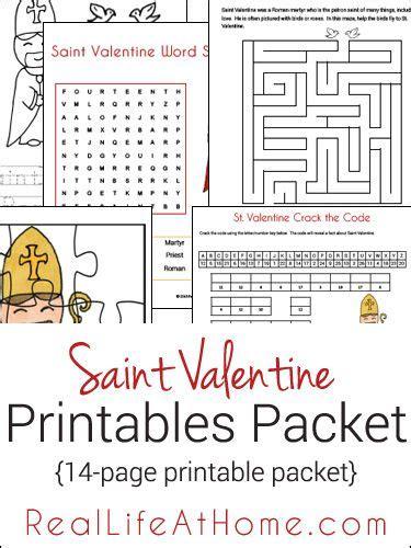 printable puzzle packets saint valentine printables and worksheet packet free