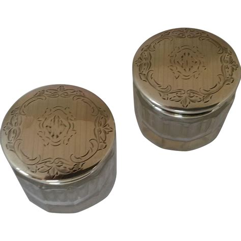 Vanity Containers by Alvin Sterling Silver Vanity Jars From Oscar1 On