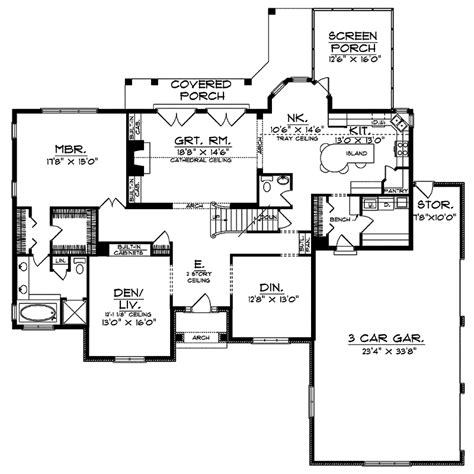 tudor floor plans waterdell tudor home plan 051d 0044 house plans and more