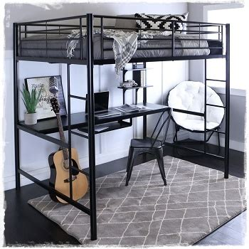 black metal loft bed with desk metal loft beds with desks study metal loft beds for