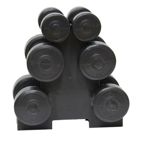 12kg dumbbell weights set stand rack home exercise