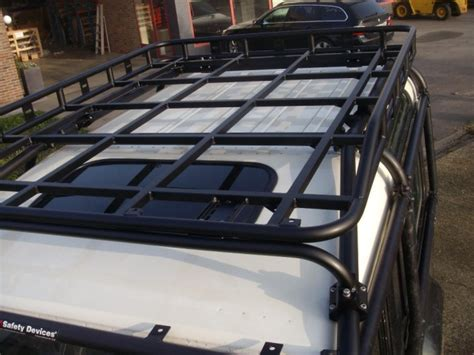 Safety Devices Roof Rack by Land Rover Defender 110 Station Wagon Roof Rack Roll Cage Mount Safety Devices Experts In