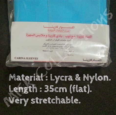 1 Pasang Manset Handsock Jempol Tangan Lengan 55 Cm mesir collections handsock stokin tangan