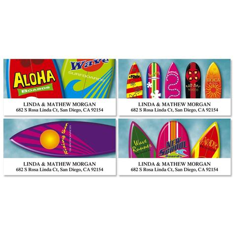 colorful images address labels surf s up deluxe return address labels colorful images