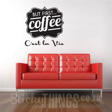 coffee wall stickers coffee wall decal office stickers stickythings co za