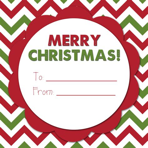 free printable gift tags from organized christmas com an organized family december 2012