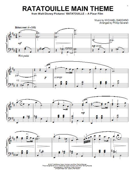 Ratatouille Song | ratatouille main theme sheet music direct