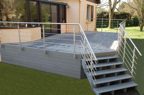 Terrasse Saint L 244 Bois Et Composite Fh Construction