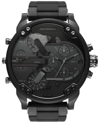 Diesel 3 Time Black White 1 diesel s chronograph mr 2 0 black stainless