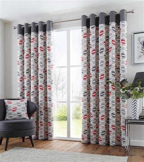 retro curtains ready made copeland geometric retro lined eyelet curtains ready made