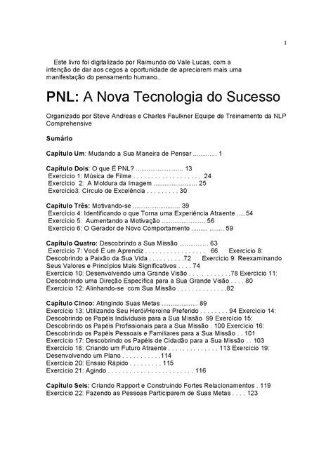PNL A Nova Tecnologia do Sucesso - Um livro sobre hipnose