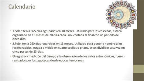 Calendario Zapoteca Cultura Zapoteca