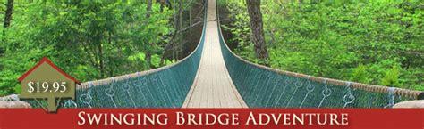 foxfire mountain swinging bridge longest swinging bridge in america cabinsinthecloud