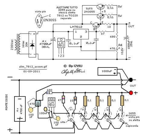 2n3055 alimentatore schemi elettronici vari