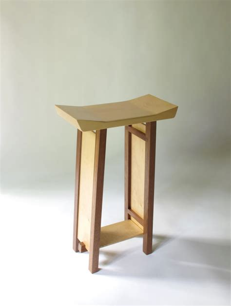 bar stool modern zen wood bar furniture by mokuzaifurniture
