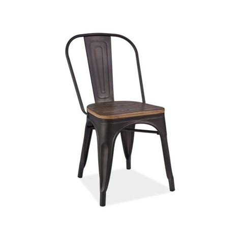 Chaise Style Industrielle by Chaise Style Industriel Assise Bois Achat Vente Pas Cher