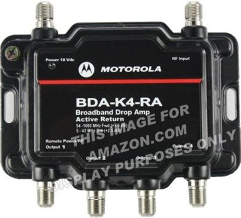 motorola signal booster 4 port cable modem tv hdtv lifier with active return cable modem