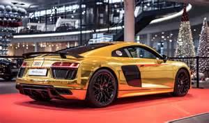 Audi R8 V10 Weight Golden Audi R8 V10 Plus Revealed Gtspirit