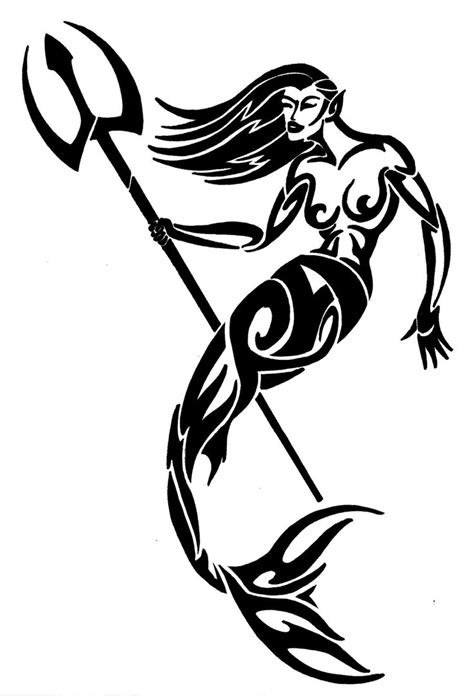 mermaid tribal tattoo tribal mermaid design by wedmer on deviantart