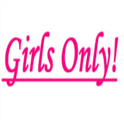 girls bathroom logo girls only sign roblox