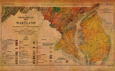maryland geologic map map of maryland geological 1897 mixed media by design turnpike
