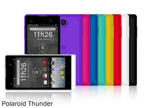 polaroid mobile phones omega phantom cosmos and thunder are the names of 4 new