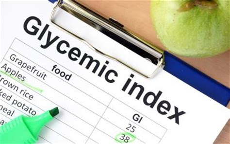 glycemic index  common foods