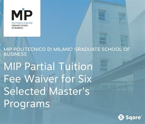 Business School Mba Tuition Fee by Mip Politecnico Di Graduate School Of Business