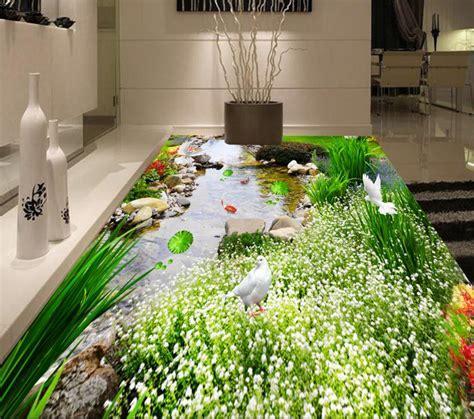 3D Floors Flowers And Grassland Mural Wallpaper Customize