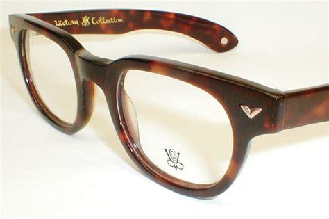 vintage s eyeglass frames bankers walnut