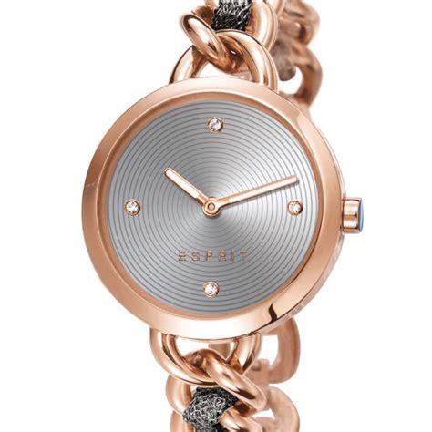 Jam Tangan Esprit Rantai Gold Rosegold Free Gelang jual esprit jam tangan wanita es107952003 rosegold