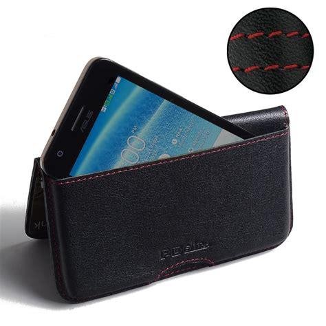asus zenfone c zc451cg leather wallet pouch stitch pdair
