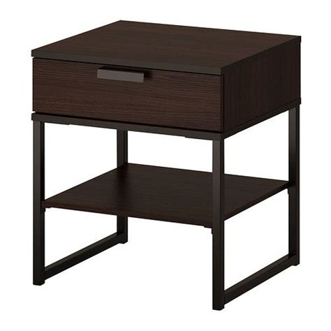 Black And Brown Nightstand Trysil Nightstand Brown Black