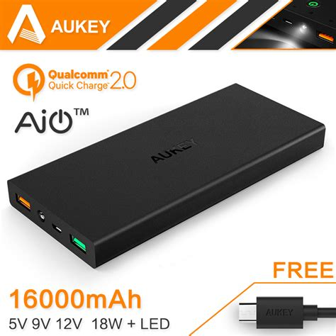 membuat power bank 9 v aliexpress com buy aukey 16000mah quick charge 2 0