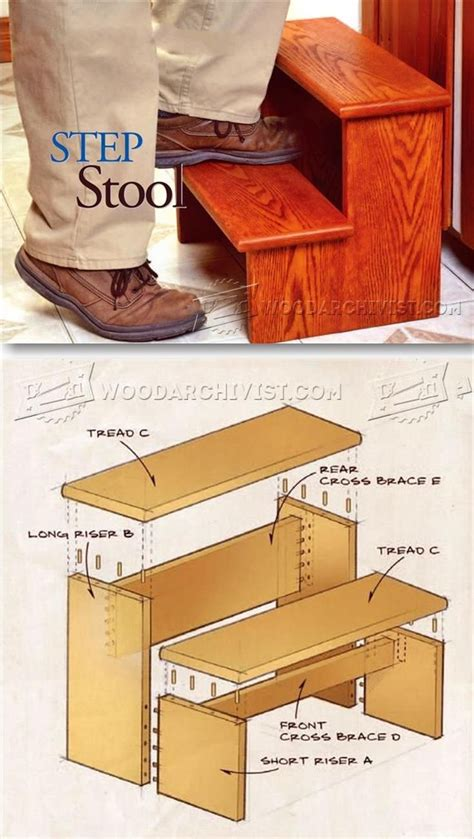 step stool plans woodworking step stool plans furniture plans and projects