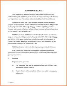 Release Settlement Letter 10 Settlement Agreement Marital Settlements Information