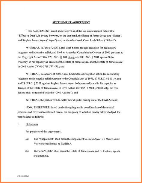Payment Settlement Agreement Template