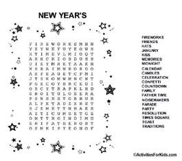 new year s eve word search printable for kids word