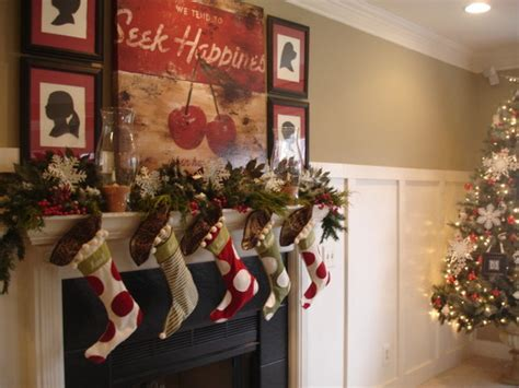 christmas mantels interior design styles and color
