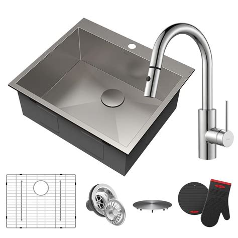 where are kraus sinks made kraus drop in stainless steel 25 in 3 hole single bowl