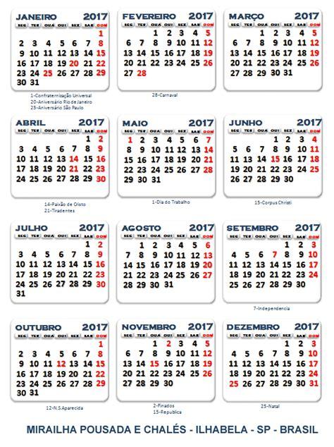 Calendario Word 2017 Mirailha Pousada E Chal 233 S Ilhabela Sp Calend 225 2017