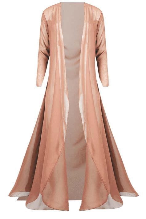 Maxi Size Menyusui Bhm 67 plus size open front mesh maxi cardigan sleeve floaty chiffon top ebay