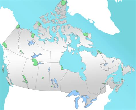 canadian national parks map list of national parks of canada