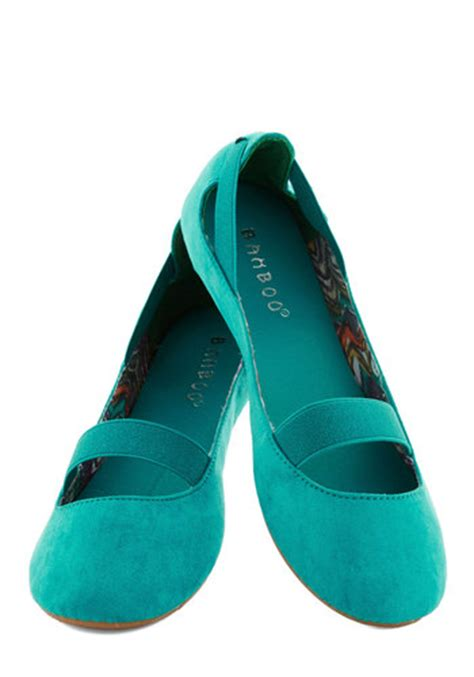 teal flat shoes playful pli 233 s flat in teal mod retro vintage flats