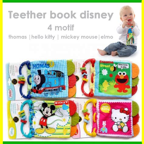 S Gigitan Bayi Cloth Book Teether Lkc134 Teether buku bantal teether murah jual mainan gigitan bayi teether book grosir