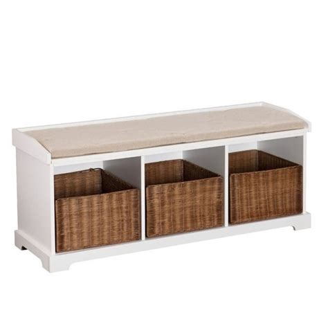 white entryway storage bench southern enterprises loring entryway storage bench in