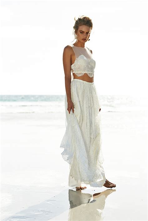 two piece wedding dresses for non traditional bride