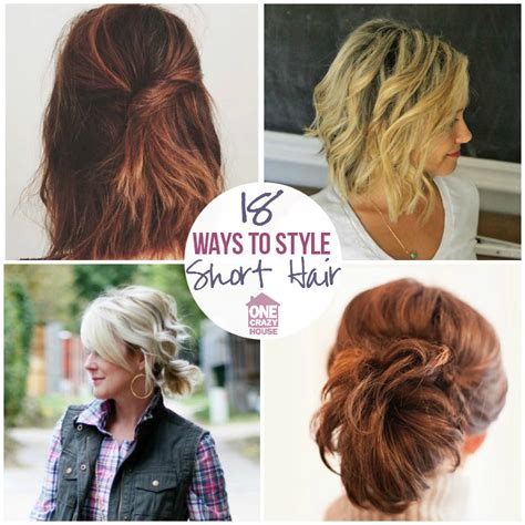 ways to obtain curly hair thats straight 18 easy styles for short hair