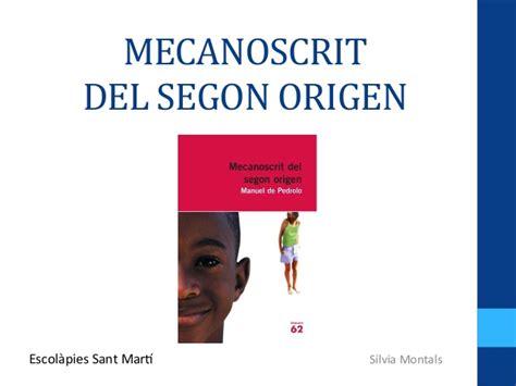 mecanoscrit del segon origen 8415192878 mecanoscrit del segon origen