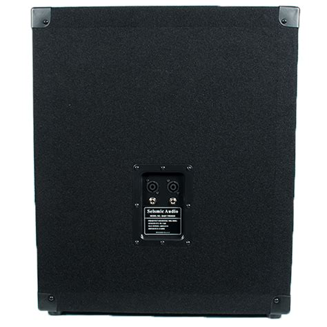 empty 15 inch speaker cabinets seismic audio empty 15 inch pro audio subwoofer cabinet